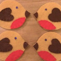 Make Your Own Felt Robin Christmas Decoration