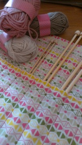 knitting needle roll inside