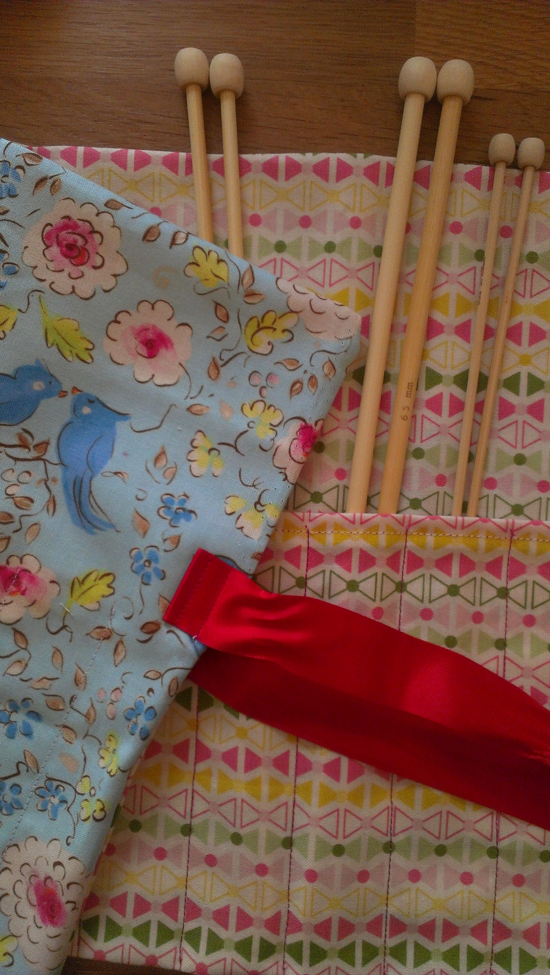 Make a Knitting Needle Roll Sew Sensational