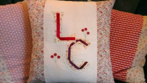 monogram cushion