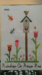 birdhouse cross stitch