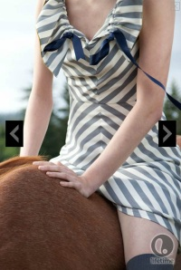 Michelle Lesniak Franklin striped dress