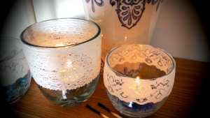 lace tea lights