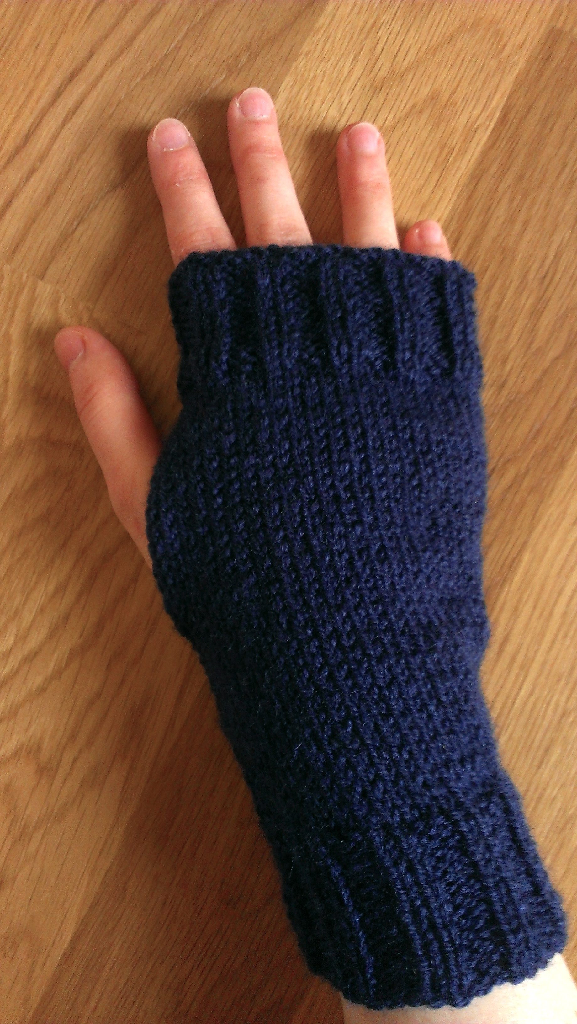 Knitted Fingerless Gloves Sew Sensational