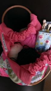 inside the knitting bag