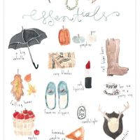 Autumn Essentials - free printable & 5 days left to enter the giveaway!