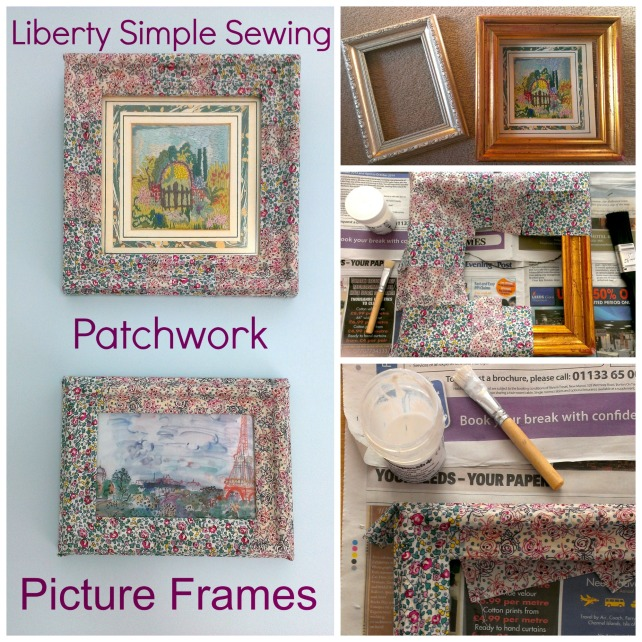 Liberty Simple Sewing patchwork picture frames