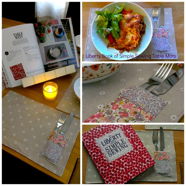 Liberty Simple Sewing tablemats
