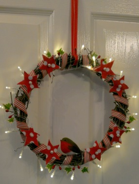 DIY scandi christmas wreath