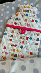 Quilted Hot Water Bottle Cover