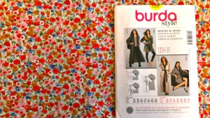 Burda 7297 in floral cotton