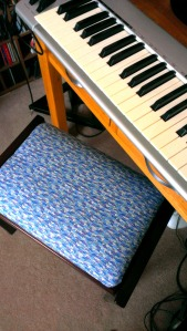 Liberty print piano stool