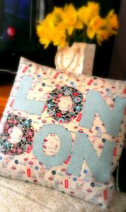 London applique cushion