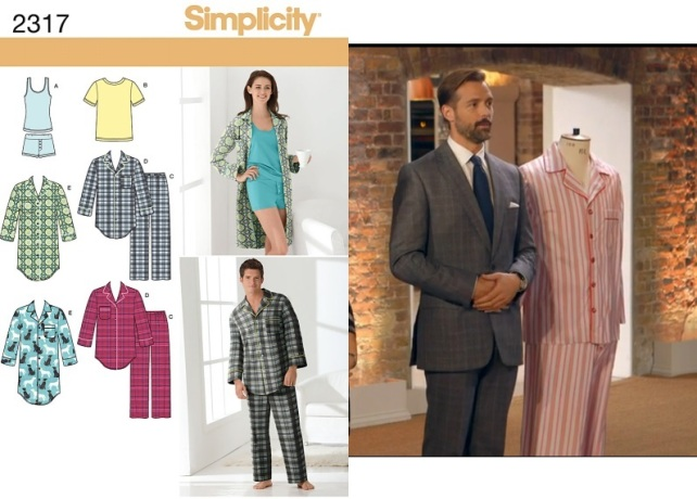 Simplicity 2317 men's pyjamas sewing pattern (Lynda GBSB)