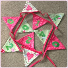 engagement date bunting