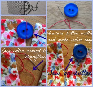 how to sew a button loop