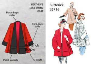 heather's swing coat sewing pattern gbsb b5716