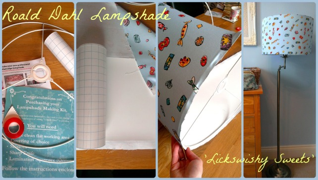 roald dahl fabric diy lampshade