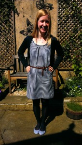 simplicity 6022 gingham dress