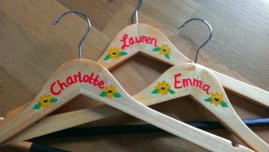 monogrammed bridesmaid coat hangers