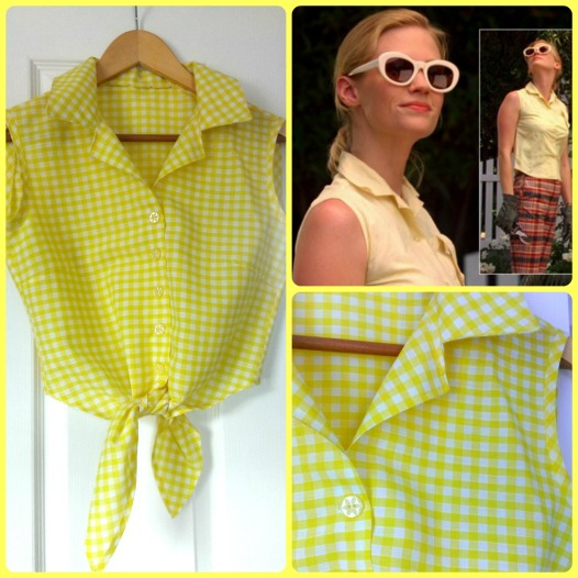 betty draper gingham blouse burda 6924