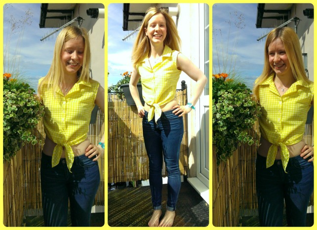 betty draper yellow gingham blouse burda 6924