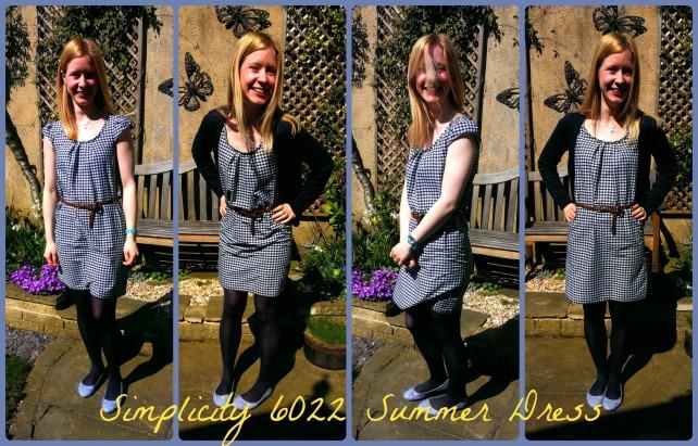simplicity new look 6022 gingham summer dress