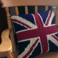 Blogger Network #3 - Knitted Union Jack Cushion