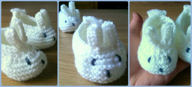 knitting pattern for bunny baby booties