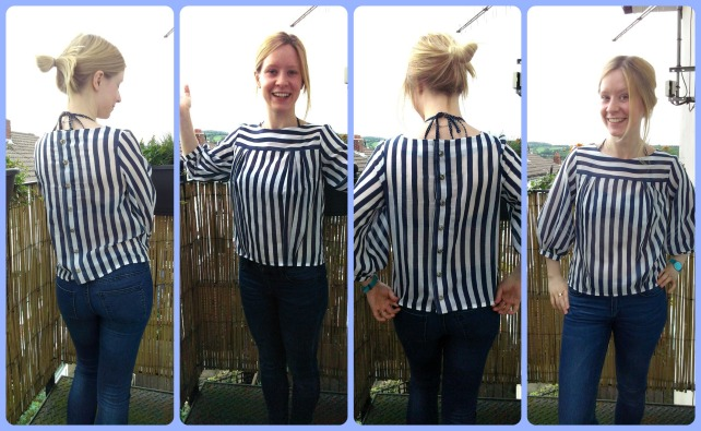 striped mathilde blouse