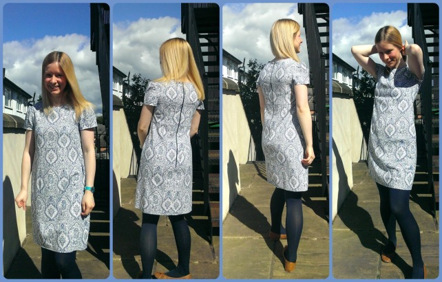 Tilly and the Buttons Megan dress in baroque linen