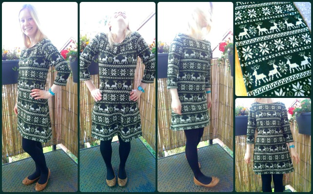 tilly and the buttons coco dress - with reindeer fabric!