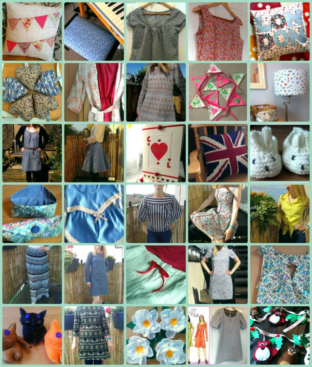 completed 2014 sewing projects
