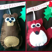 Blogger Network #9 - Felt Woodland Animal Christmas Decorations