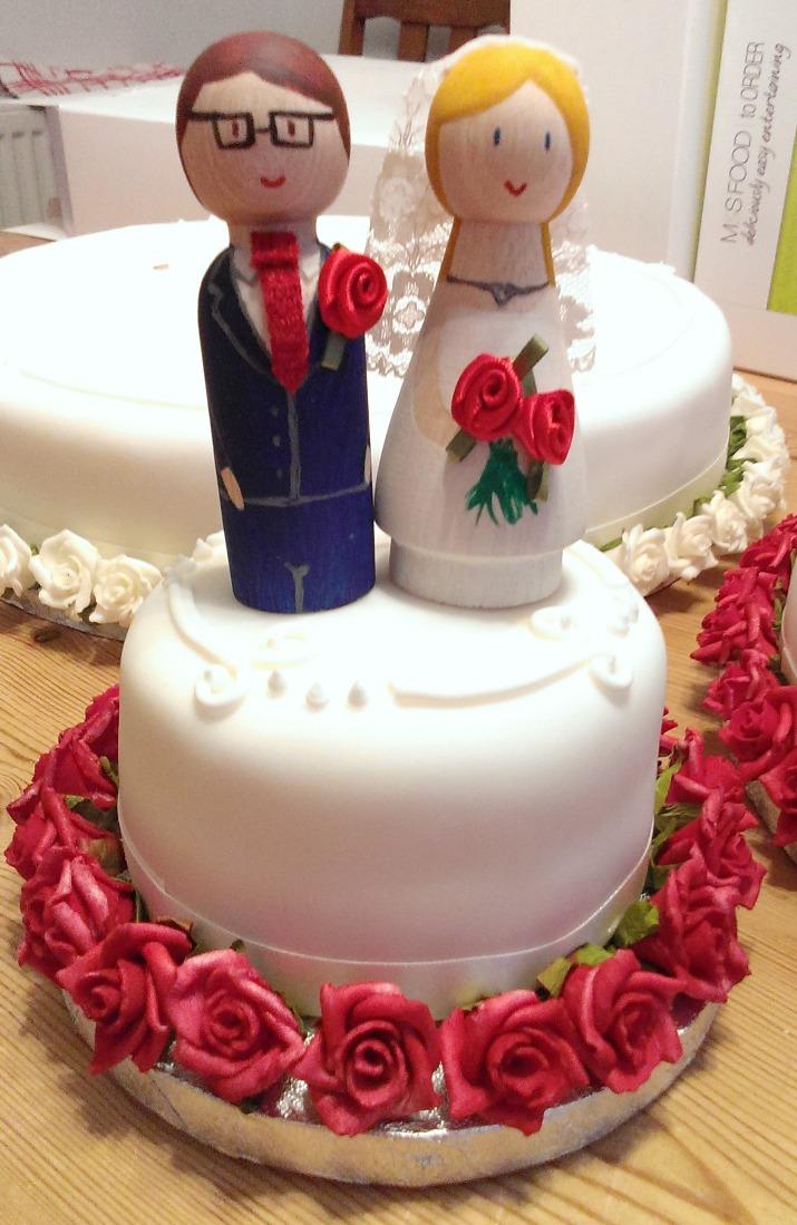DIY Wooden Wedding Cake Toppers   Sew Sensational