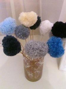 pompom bouquet