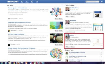 bloggers.com featured blog