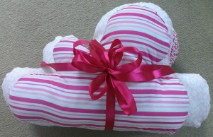 gift wrapped cloud cushions