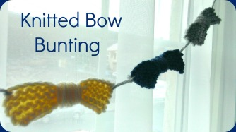 knitted bow bunting diy