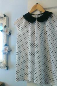 simple sew peter pan polka dot blouse