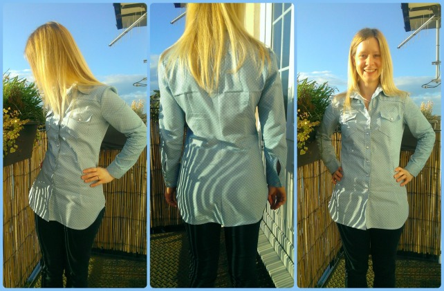 burda 6849 dotty blouse