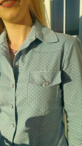 burda 6849 polka dot shirt