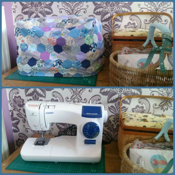 hexie patchwork sewing machine cover 2