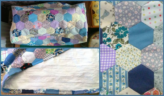 hexie patchwork sewing machine cover 3