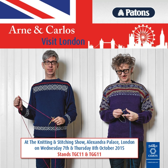 Arne and Carlos Knitting and Stitching Show 2015