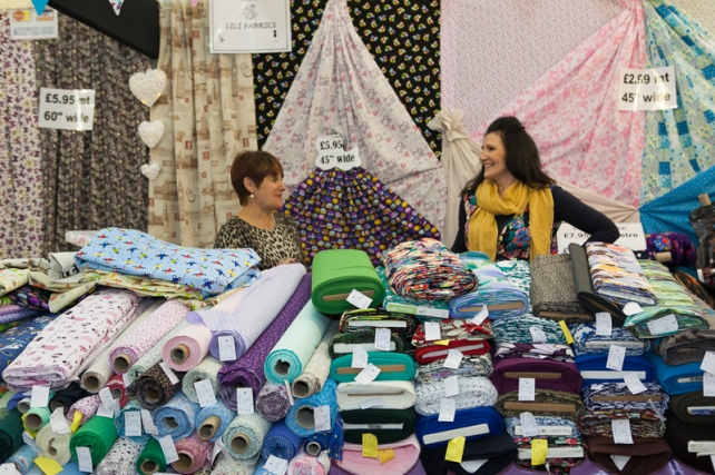 Fabrics at the Knitting and Stitching Show 2015