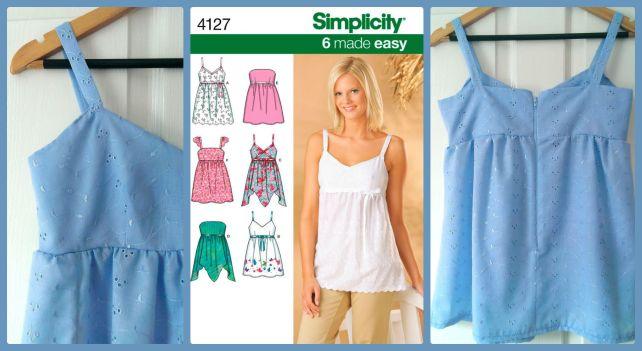 simplicity 4127 top