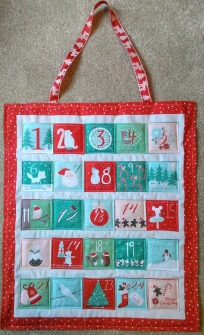 advent calendar sewing