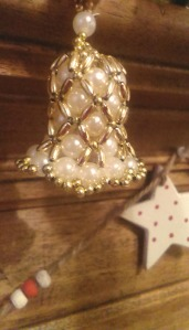 beaded bell decoration