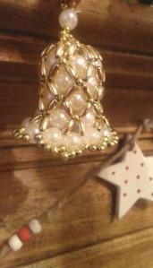 beaded bell decoration
